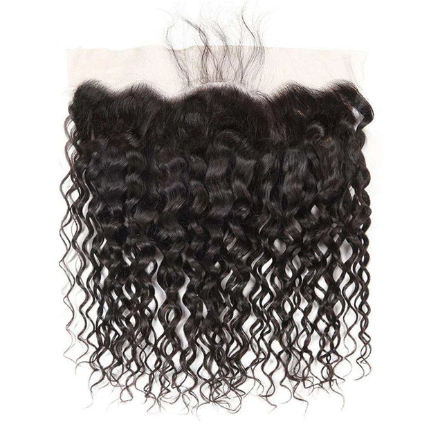 Water Wave Brazilian Hair 3 Bundles With Frontal Human Hair Natural Wave 10A Grade - ashimaryhair