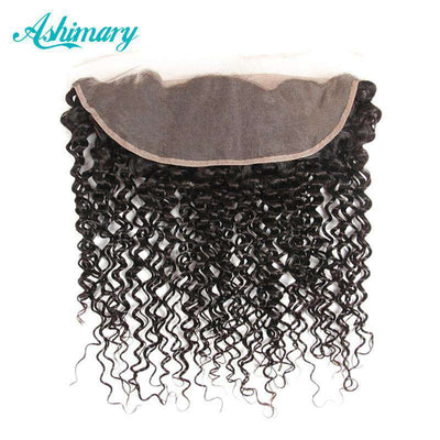 Jerry Curly Hair Lace Frontal Closure 13x4Inchs Remy Hair 100% Human Hair Free Shipping - ashimaryhair