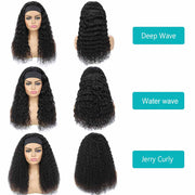 Best Headband Wigs Human Hair For Deep Wave Water Wave and Jerry Curly Hair-AshimaryHair.com