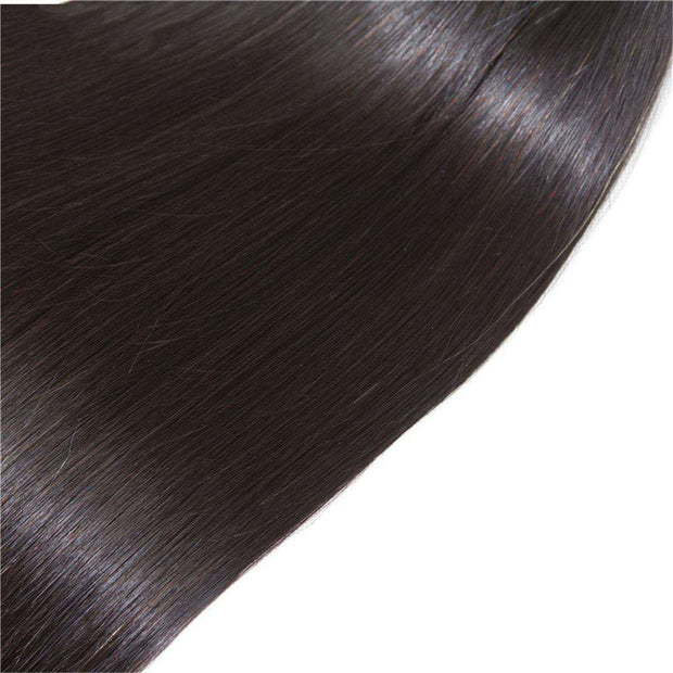 4 Bundles 9A Straight Brazilian Human Hair Bundles Remy Hair Natural Color - ashimaryhair