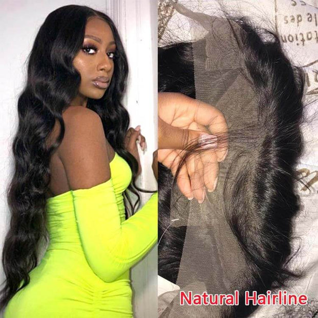 28-38 Inch Long Hair Wigs Body Wave 13*4 Lace Front Wigs Human Hair-AshimaryHair.com