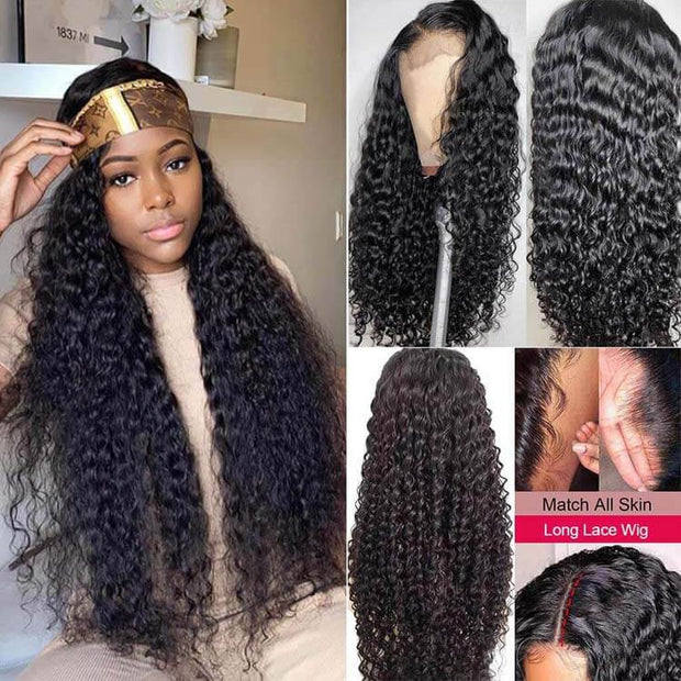 Transparent Lace Wigs Curly 13*4 Lace Front Wigs 28-38 Inch Long Hair Wigs Human Hair-AshimaryHair.com