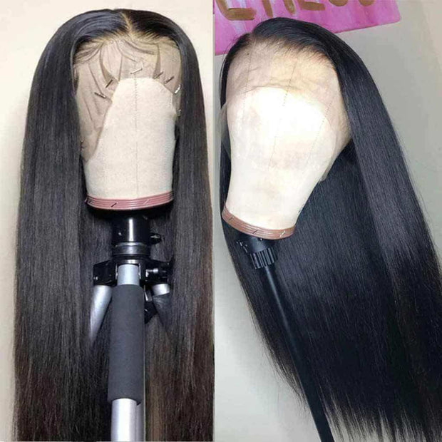 Fashion 13*6 Lace Front Wigs Straight Brazilian Human Hair-AshimaryHair.com
