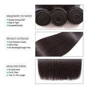 Ashimary Hair Cheap Black Straight Human Hair Weave Bundles
