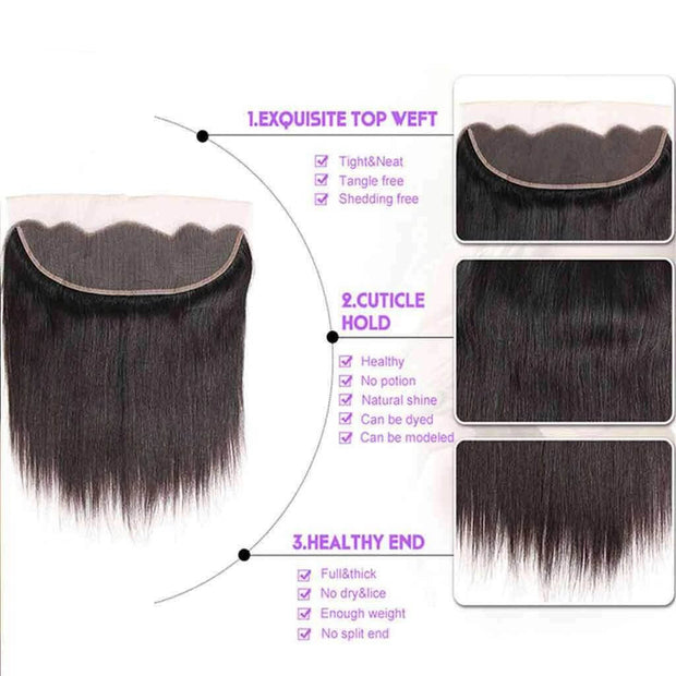 Ashimary straight hair ear to ear lace frontal closure