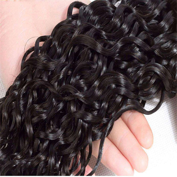 Water Wave Hair 4x4Inchs Lace Closure Natural Color 100% Human Hair - ashimaryhair