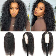 U Part Wig Human Hair Wigs Jerry Curly Wig Long Wigs Glueless