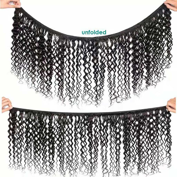 9A Grade Water Wave 3 Bundles With Frontal Indian Virgin Hair - ashimaryhair