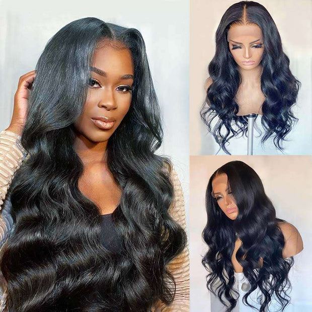 Real Big 13*6 Lace Front Wig Ashimary Body Wave Hair 150% 180% 250% Density Brazilian Human Hair