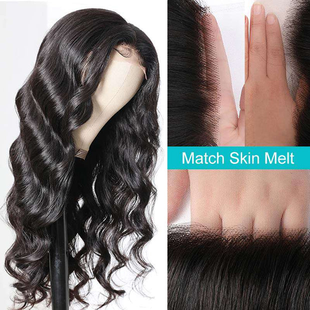 Glueless 5*5 HD Transparent Lace Closure Wig Body Wave Ashimary Brazilian Human Hair Natural Color