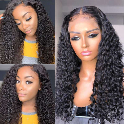 Ashimary Jerry Curly Glueless 5*5 HD Transparent Closure Wig  Brazilian Human Hair Natural Color