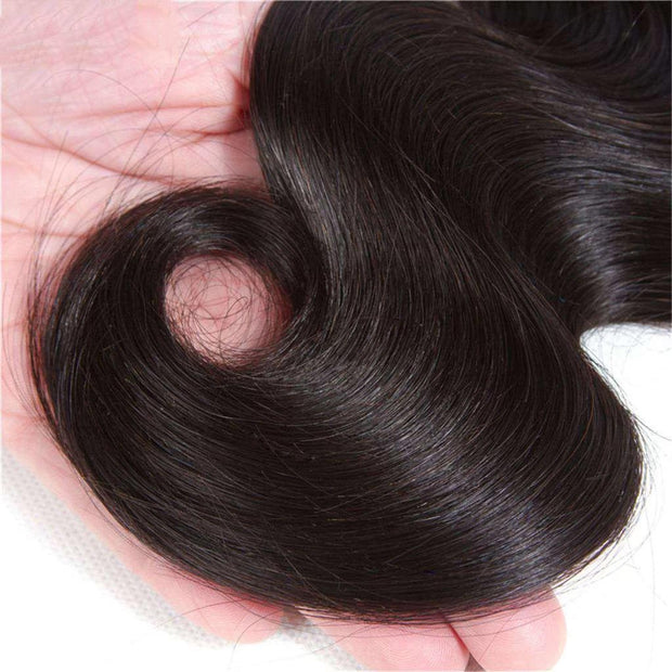 Body Wave  Hair 1 Bundle 9A Brazilian Human Hair Natural Color - ashimaryhair