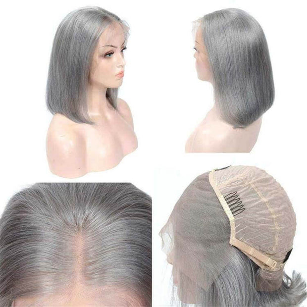 Cheap Colored Bob Short Blonde Bob Wig Human Hair Lace Front Wigs-AshimaryHair.com