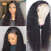 Transparent Lace Wigs Human Hair 13*4 Lace Wig Jerry Curly Lace Front Wigs-AshimaryHair.com