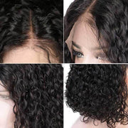 Short Curly Bob Wig Jerry Curls Lace Front Bob Wigs Curly Hair Lace Wigs-AshimaryHair.com