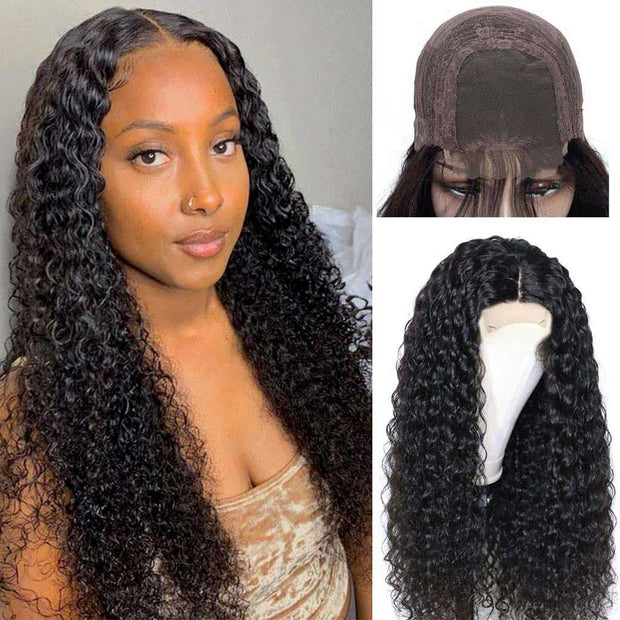 Glueless Wigs Jerry Curls 4*4 Lace Wigs Curly Human Hair Lace Wigs-AshimaryHair.com