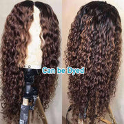 13*4 HD lace Front Wigs Deep Curly Wave Brazilian Human Hair-AshimaryHair.com