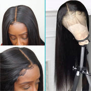 Full Lace Wigs Human Hair Straight Brazilian Hair 180% Density-AshimaryHair.com
