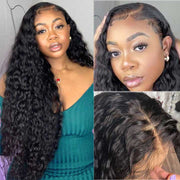 Water Wave Transparent hd Lace Front Wig 13*4 Lace Frontal Brazilian Human Hair