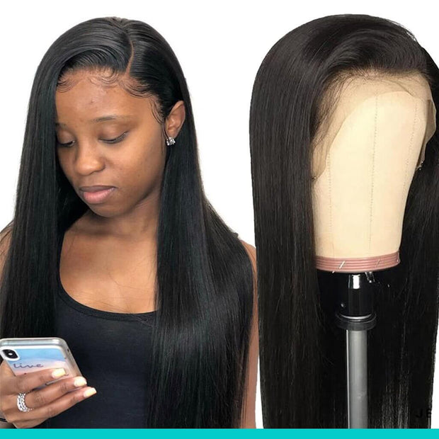 Cheap 13*4 Lace Front Wigs Straight Brazilian Human Hair-AshimaryHair.com