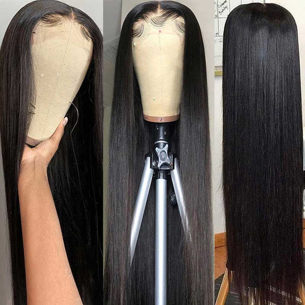 Long Straight Wigs 13*4 Transparent HD Lace Frontal Wigs Human Hair 28-38 Inch