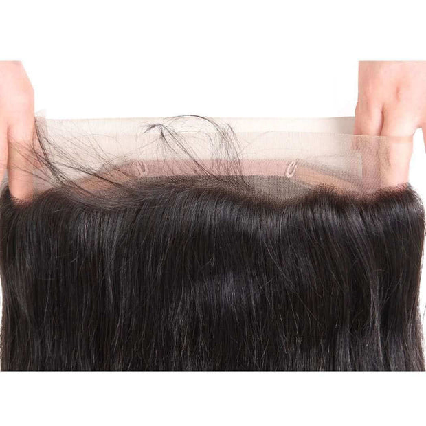 Ashimary Hair Pre Plucked 360 Lace Frontal Closure Straight Human Hair