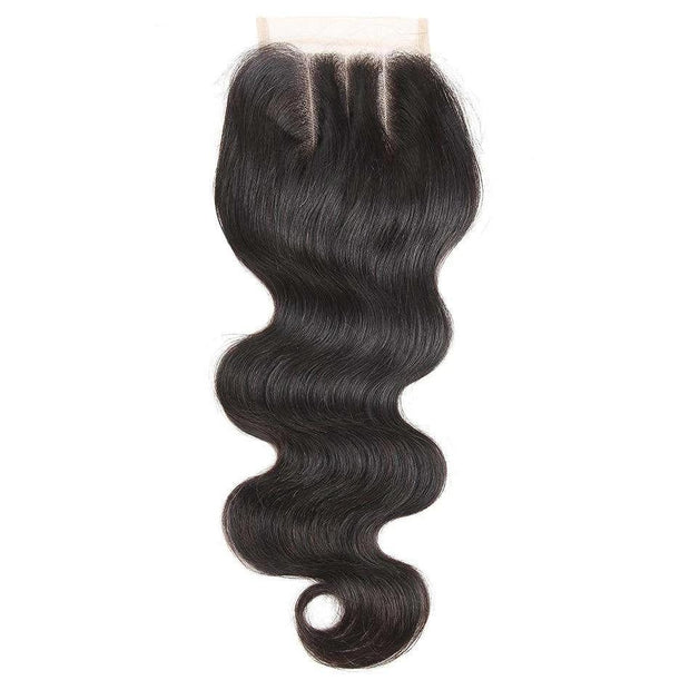 Ashimary 4*4 Lace Closure Brazilian Hair Body Wave 100% Human Hair Natural Color Three Part Closure - ashimaryhair