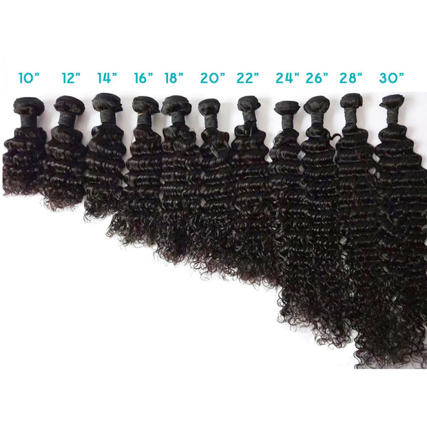 4 Bundles 10A Deep Wave Human Hair Bundles Natural Color - ashimaryhair