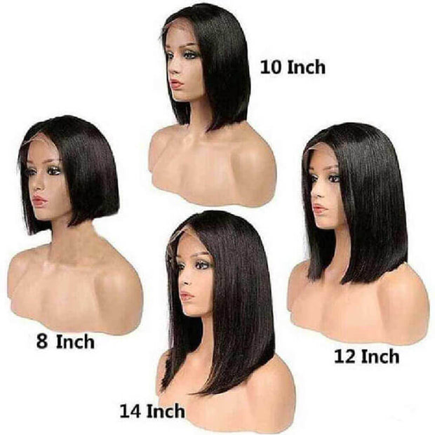 Short Bob Wig Lace Front Wigs Brazilian Straight Human Hair For Sale-AshimaryHair.com