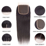 Best Human Hair Straight Lace Closure-AshimaryHair.com