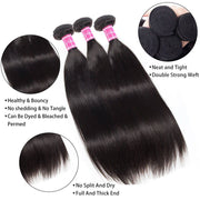 Top Quality Straight Human Hair Weave 3 Bundles-AshimaryHair.com