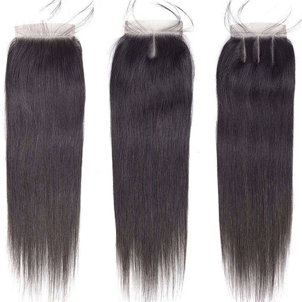 Top Quality Straight Human Hair 4*4 Lace Closure With Baby Hair-AshimaryHair.com