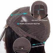 Water Wave 4*4 Lace Closure Wigs Cap -AshimaryHair.com