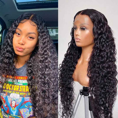 Water Wave Lace Front Wig 13*4 Lace Frontal Brazilian Human Hair