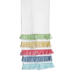 Fringe Benefits Guest Towel | Garden Folly Fine Linens - linen guest towels embroidery, linen hand towels for embroidery, fancy guest hand towels