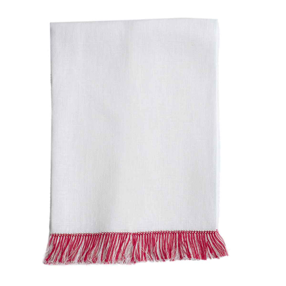 Fringe Benefits Guest Towel | Garden Folly Fine Linens - hand towels for embroidering, fancy linen hand towels, fancy linen guest towels