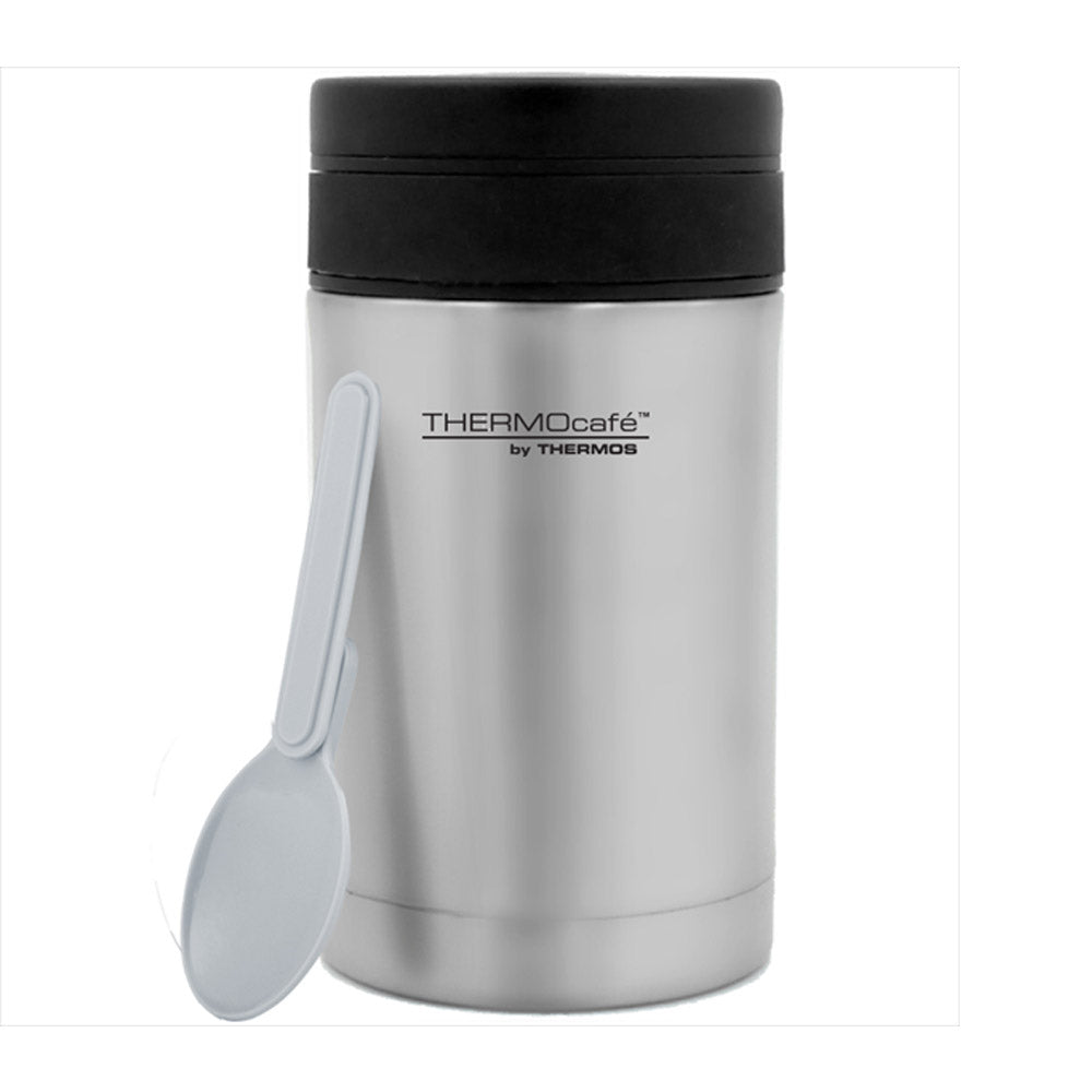 ThermoCafé by Food Flask with Plastic Spoon 500ml Stainless Steel