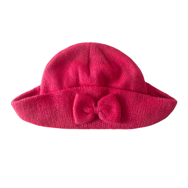 Girl's Brim Bow Hat