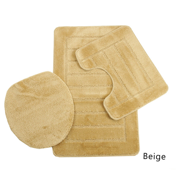 Sorrento Collection 3 Piece Bath Mat Set