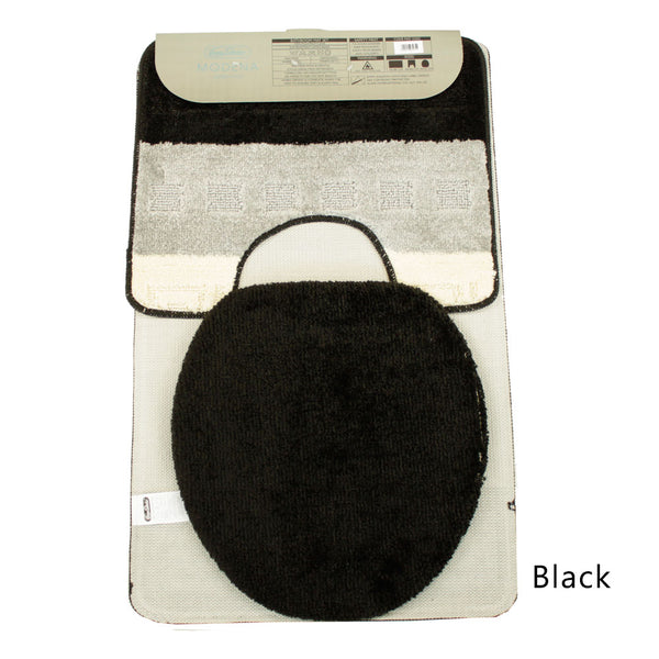 Modena 3 Piece Bath Mat Set