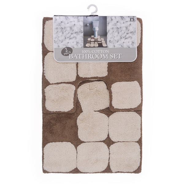 Natural 2 Piece Bath Mat Set