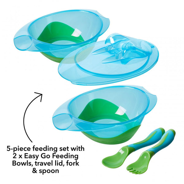 Bowls with Lids and Cutlery