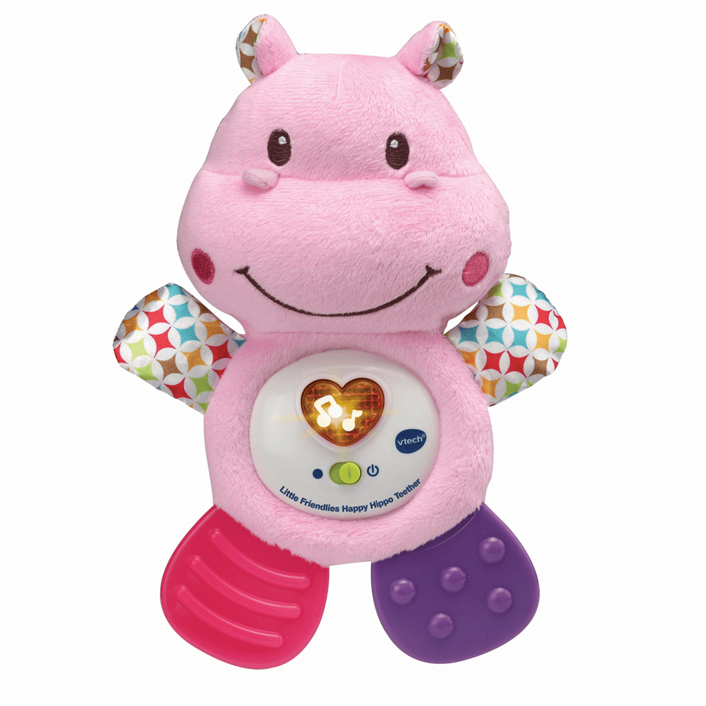 Little Friendlies Happy Hippo Teether Pink