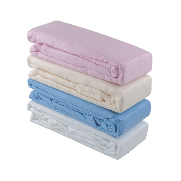 Cot Flannelette Sheets (2 Pack)