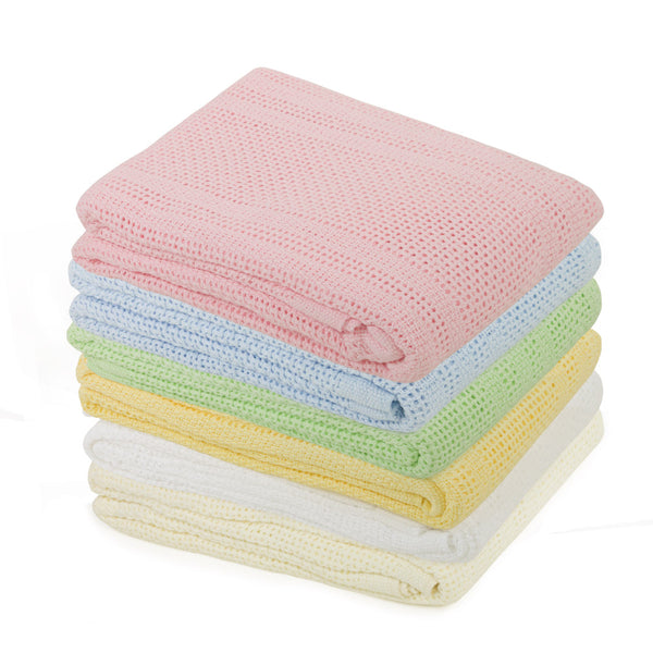 Cot Bed Cotton Cellular Blanket