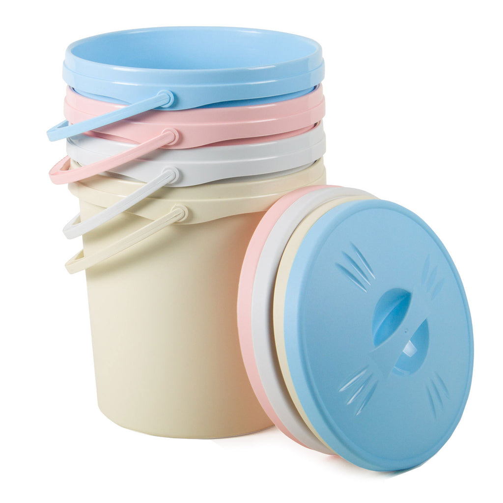 Round Nappy-Pail with Lid