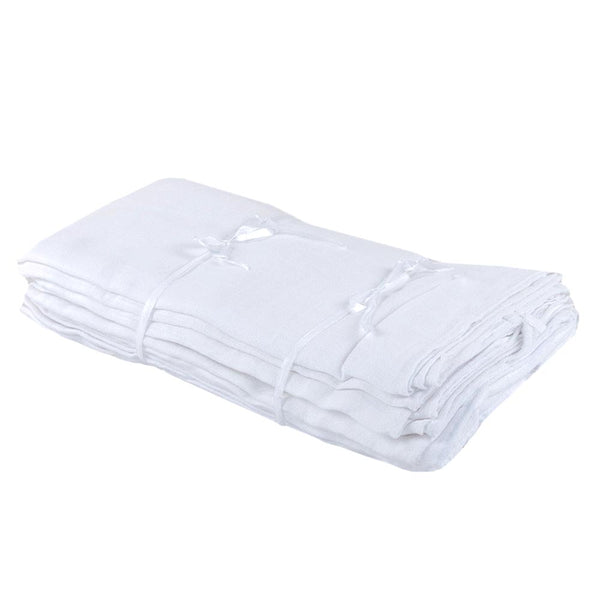 Supreme Quality Muslin Nappies - White