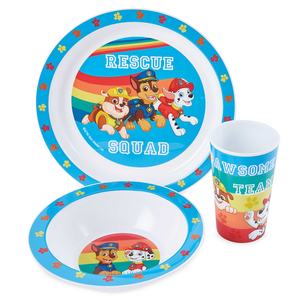 Paw Patrol Rescue 3 Piece PP Tableware Set