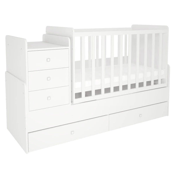 Cot bed Simple 1100 with drawer unit