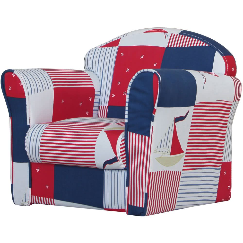 Mini Armchair Blue Patchwork